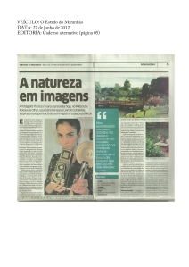 Parques e Jardins de 11 cidades do mundo inspiram maranhense | O Estado do Maranhão