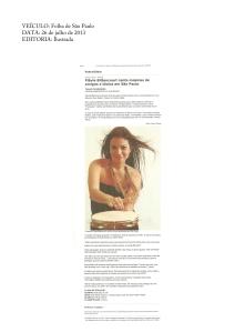 Flávia Bittencourt canta músicas de amigos e ídolos em São Paulo | Folha de São Paulo