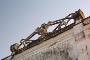 Detalhe do prédio da escola de música Lilah Lisboa | Praia Grande
