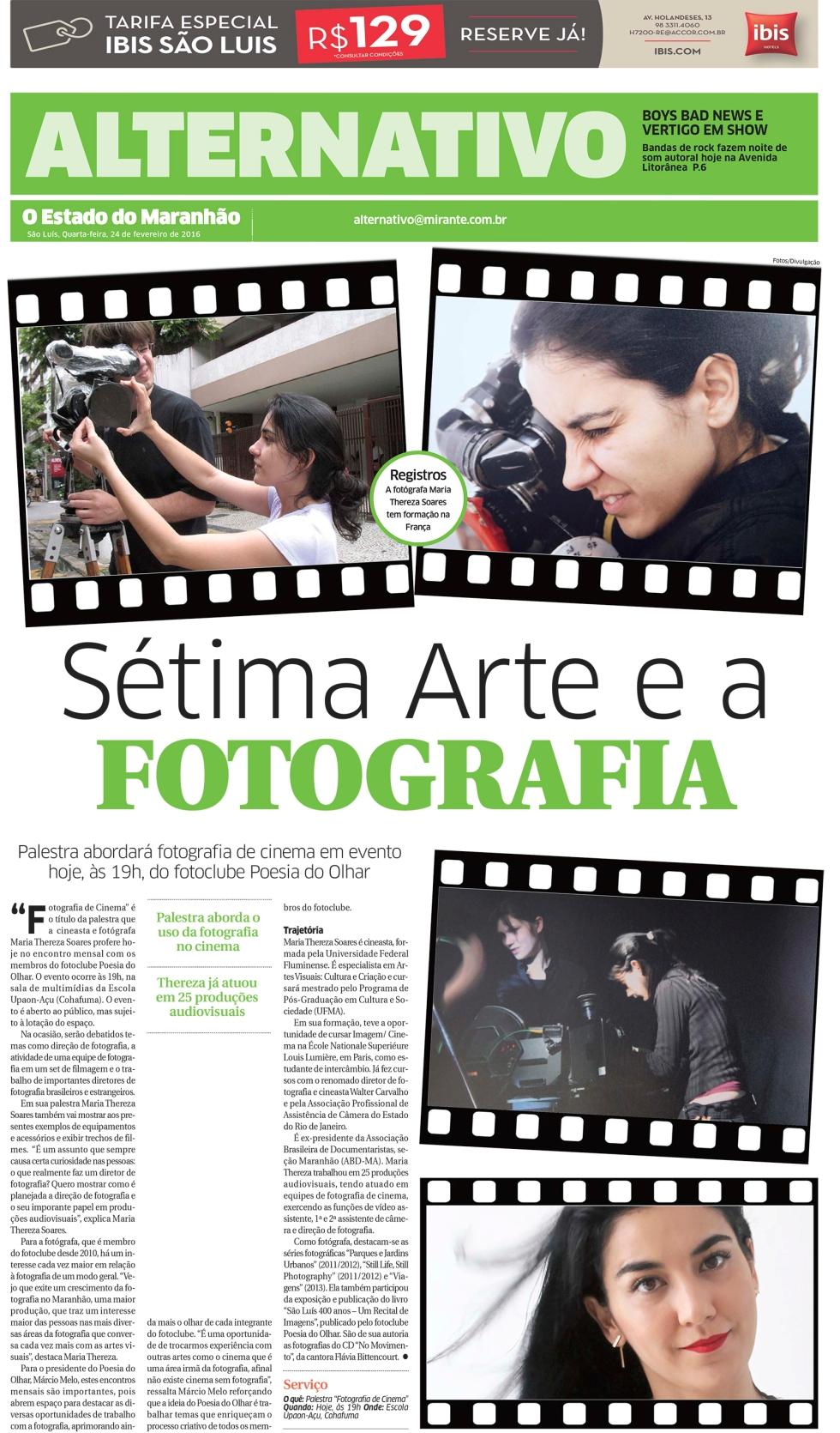 paLESTRA FOTOGRAFIA DE  CINEMA FOTOCLUBE
