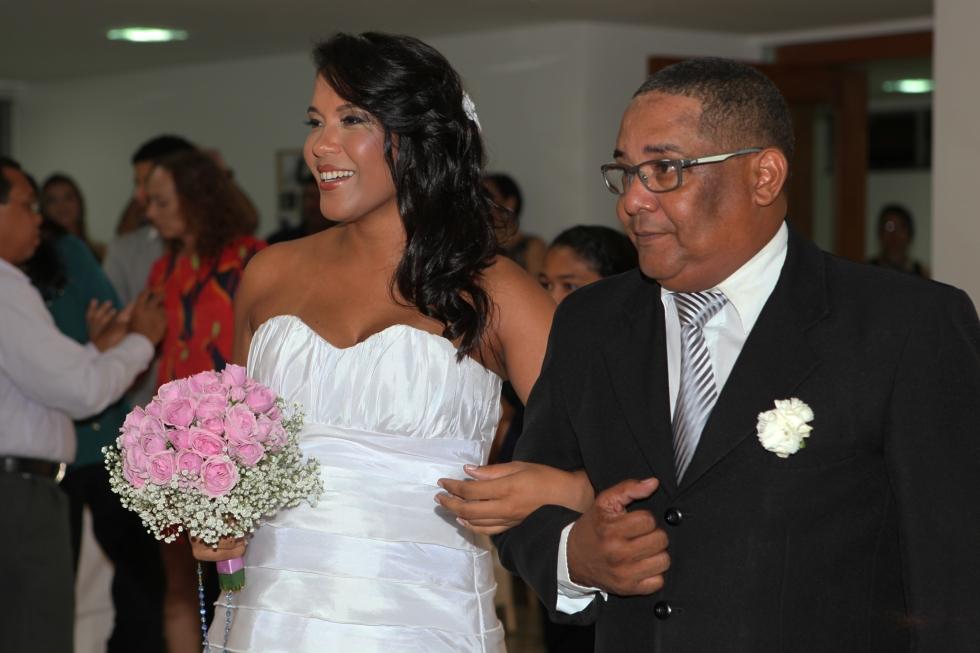 Noiva com pai, José Carlos