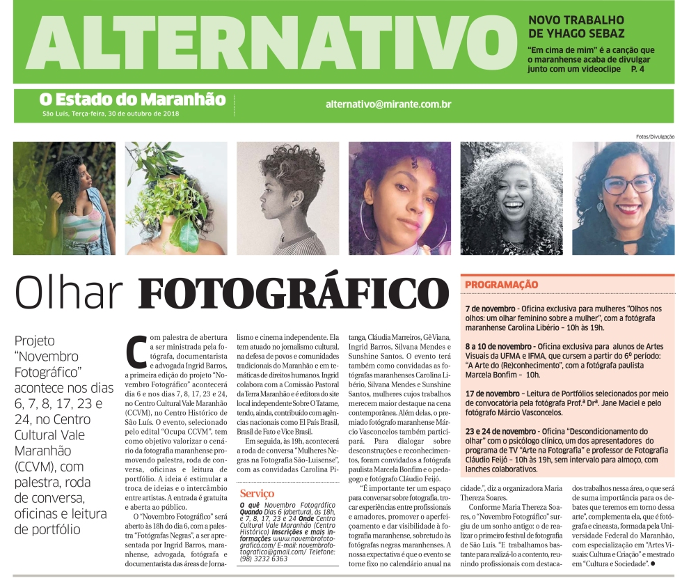 Clipping Estado do MA Novembro Fotográfico